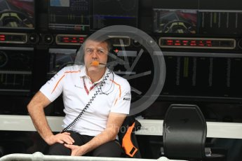 World © Octane Photographic Ltd. Formula 1 - Australian GP - Practice 3. Paul James – Team Manager at McLaren. Albert Park, Melbourne, Australia. Saturday 24th March 2018. Digital Ref