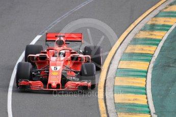 World © Octane Photographic Ltd. Formula 1 – Australian GP - Qualifying. Scuderia Ferrari SF71-H – Sebastian Vettel. Albert Park, Melbourne, Australia. Saturday 24th March 2018.