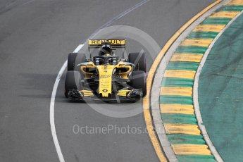 World © Octane Photographic Ltd. Formula 1 – Australian GP - Qualifying. Renault Sport F1 Team RS18 – Nico Hulkenberg. Albert Park, Melbourne, Australia. Saturday 24th March 2018.