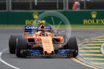 World © Octane Photographic Ltd. Formula 1 – Australian GP - Qualifying. McLaren MCL33 – Stoffel Vandoorne. Albert Park, Melbourne, Australia. Saturday 24th March 2018.