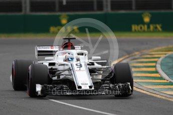 World © Octane Photographic Ltd. Formula 1 – Australian GP - Qualifying. Alfa Romeo Sauber F1 Team C37 – Marcus Ericsson. Albert Park, Melbourne, Australia. Saturday 24th March 2018.