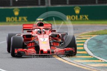 World © Octane Photographic Ltd. Formula 1 – Australian GP - Qualifying. Scuderia Ferrari SF71-H – Kimi Raikkonen. Albert Park, Melbourne, Australia. Saturday 24th March 2018.