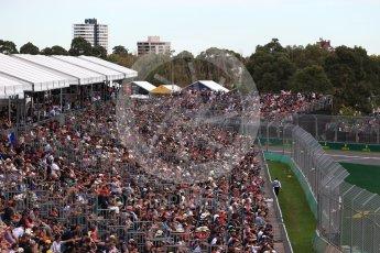 World © Octane Photographic Ltd. Formula 1 – Australian GP - Qualifying. Packed grandstands at Albert Park, Melbourne, Australia. Saturday 24th March 2018.