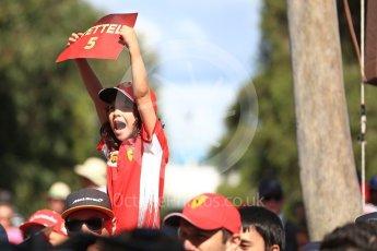 World © Octane Photographic Ltd. Formula 1 – Australian GP - Melbourne Walk. Vettel Fans. Albert Park, Melbourne, Australia. Sunday 25th March 2018.