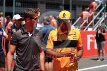 World © Octane Photographic Ltd. Formula 1 – Austrian GP - Drivers Parade. Renault Sport F1 Team RS18 – Carlos Sainz and Haas F1 Team VF-18 – Romain Grosjean. Red Bull Ring, Spielberg, Austria. Sunday 1st July 2018.