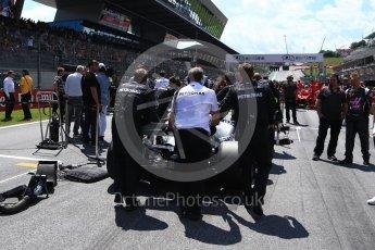 World © Octane Photographic Ltd. Formula 1 – Austrian GP - Grid. Mercedes AMG Petronas Motorsport AMG F1 W09 EQ Power+ - Valtteri Bottas. Red Bull Ring, Spielberg, Austria. Sunday 1st July 2018.