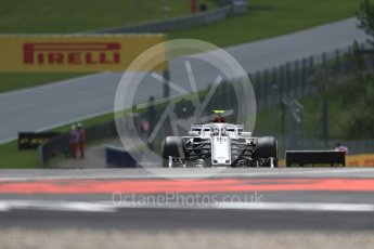 World © Octane Photographic Ltd. Formula 1 – Austrian GP - Practice 1. Alfa Romeo Sauber F1 Team C37 – Charles Leclerc. Red Bull Ring, Spielberg, Austria. Friday 29th June 2018.