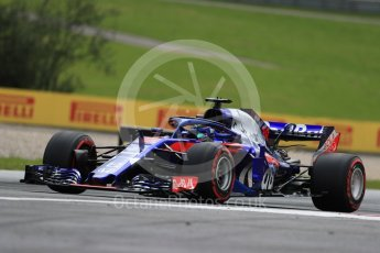 World © Octane Photographic Ltd. Formula 1 – Austrian GP - Practice 1. Scuderia Toro Rosso STR13 – Pierre Gasly. Red Bull Ring, Spielberg, Austria. Friday 29th June 2018.