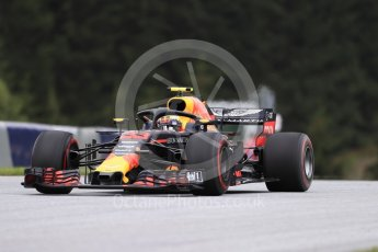 World © Octane Photographic Ltd. Formula 1 – Austrian GP - Practice 1. Aston Martin Red Bull Racing TAG Heuer RB14 – Max Verstappen. Red Bull Ring, Spielberg, Austria. Friday 29th June 2018.
