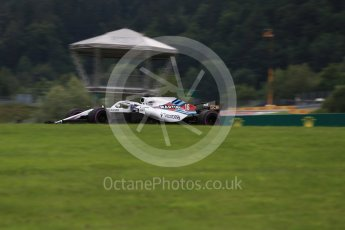 World © Octane Photographic Ltd. Formula 1 – Austrian GP - Practice 2. Williams Martini Racing FW41 – Lance Stroll. Red Bull Ring, Spielberg, Austria. Friday 29th June 2018.