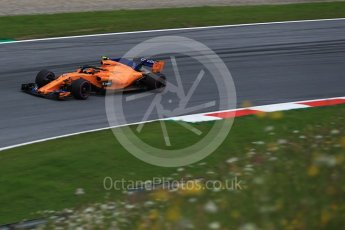 World © Octane Photographic Ltd. Formula 1 – Austrian GP - Practice 2. McLaren MCL33 – Stoffel Vandoorne. Red Bull Ring, Spielberg, Austria. Friday 29th June 2018.