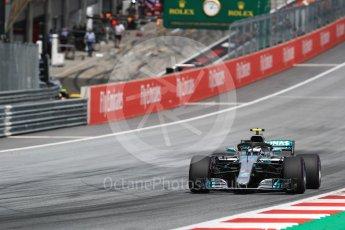 World © Octane Photographic Ltd. Formula 1 – Austrian GP - Qualifying. Mercedes AMG Petronas Motorsport AMG F1 W09 EQ Power+ - Valtteri Bottas. Red Bull Ring, Spielberg, Austria. Saturday 30th June 2018.