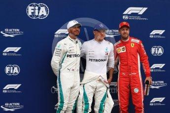World © Octane Photographic Ltd. Formula 1 – Austrian GP - Qualifying. Mercedes AMG Petronas Motorsport AMG F1 W09 EQ Power+ - Valtteri Bottas, followed by Lewis Hamilton and Scuderia Ferrari SF71-H – Sebastian Vettel. Red Bull Ring, Spielberg, Austria. Saturday 30th June 2018.