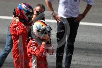 World © Octane Photographic Ltd. Formula 1 – Austrian GP - Race Podium. Scuderia Ferrari SF71-H – Kimi Raikkonen and Sebastian Vettel. Red Bull Ring, Spielberg, Austria. Sunday 1st July 2018.