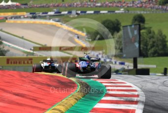 World © Octane Photographic Ltd. Formula 1 – Austrian GP - Race. Scuderia Toro Rosso STR13 – Pierre Gasly. Red Bull Ring, Spielberg, Austria. Sunday 1st July 2018.