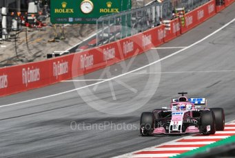 World © Octane Photographic Ltd. Formula 1 – Austrian GP - Race. Sahara Force India VJM11 - Sergio Perez. Red Bull Ring, Spielberg, Austria. Sunday 1st July 2018.