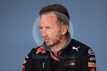 World © Octane Photographic Ltd. Formula 1 - Austrian GP - Friday FIA Team Press Conference. Christian Horner - Team Principal of Red Bull Racing. Red Bull Ring, Spielberg, Austria. Friday 29th June 2018.
