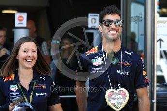 World © Octane Photographic Ltd. Formula 1 – Austrian GP - Paddock. Aston Martin Red Bull Racing TAG Heuer RB14 – Daniel Ricciardo. Red Bull Ring, Spielberg, Austria. Sunday 1st July 2018.
