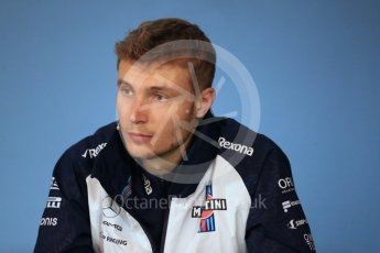 World © Octane Photographic Ltd. Formula 1 – French GP - Thursday Driver Press Conference. Williams Martini Racing - Sergey Sirotkin. Red Bull Ring, Spielberg, Austria. Thursday 28th June 2018.