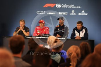 World © Octane Photographic Ltd. Formula 1 – French GP - Thursday Driver Press Conference. Haas F1 Team – Kevin Magnussen, Scuderia Ferrari – Kimi Raikkonen, Aston Martin Red Bull Racing TAG Heuer – Daniel Ricciardo and Williams Martini Racing - Sergey Sirotkin. Red Bull Ring, Spielberg, Austria. Thursday 28th June 2018.