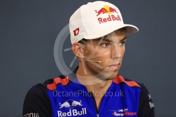 World © Octane Photographic Ltd. Formula 1 – Belgian GP - FIA Drivers' Press Conference. Scuderia Toro Rosso – Pierre Gasly. Spa-Francorchamps, Belgium. Thursday 23rd August 2018.