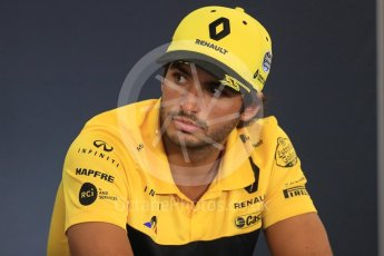 World © Octane Photographic Ltd. Formula 1 – Belgian GP - FIA Drivers' Press Conference. Renault Sport F1 Team – Carlos Sainz. Spa-Francorchamps, Belgium. Thursday 23rd August 2018.