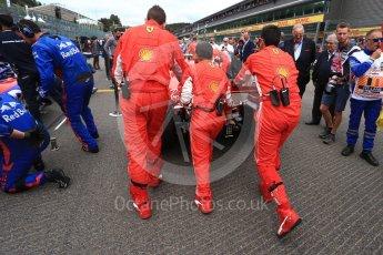 World © Octane Photographic Ltd. Formula 1 – Belgian GP - Grid. Scuderia Ferrari SF71-H – Kimi Raikkonen. Spa-Francorchamps, Belgium. Sunday 26th August 2018.