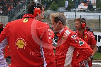 World © Octane Photographic Ltd. Formula 1 – Belgian GP - Grid. Scuderia Ferrari SF71-H – Sebastian Vettel. Spa-Francorchamps, Belgium. Sunday 26th August 2018.