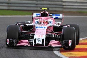 World © Octane Photographic Ltd. Formula 1 – Belgian GP - Practice 1. Racing Point Force India VJM11 - Esteban Ocon. Spa-Francorchamps, Belgium. Friday 24th August 2018.