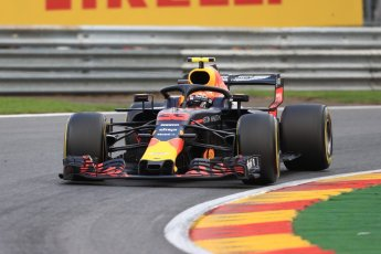 World © Octane Photographic Ltd. Formula 1 – Belgian GP - Practice 1. Aston Martin Red Bull Racing TAG Heuer RB14 – Max Verstappen. Spa-Francorchamps, Belgium. Friday 24th August 2018.