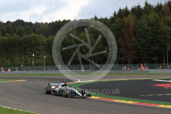 World © Octane Photographic Ltd. Formula 1 – Belgian GP - Practice 1. Mercedes AMG Petronas Motorsport AMG F1 W09 EQ Power+ - Lewis Hamilton. Spa-Francorchamps, Belgium. Friday 24th August 2018.