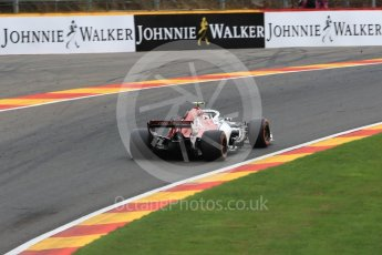 World © Octane Photographic Ltd. Formula 1 – Belgian GP - Practice 2. Alfa Romeo Sauber F1 Team C37 – Charles Leclerc. Spa-Francorchamps, Belgium. Friday 24th August 2018.