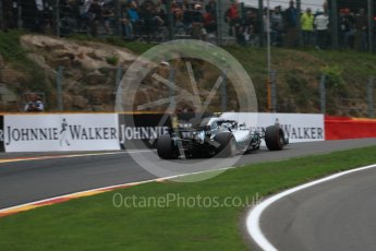 World © Octane Photographic Ltd. Formula 1 – Belgian GP - Practice 2. Mercedes AMG Petronas Motorsport AMG F1 W09 EQ Power+ - Valtteri Bottas. Spa-Francorchamps, Belgium. Friday 24th August 2018.