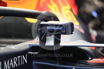 World © Octane Photographic Ltd. Formula 1 – Belgian GP - Practice 3. Aston Martin Red Bull Racing TAG Heuer RB14 new wing mirrors. Spa-Francorchamps, Belgium. Saturday 25th August 2018.
