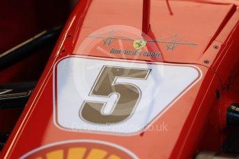 World © Octane Photographic Ltd. Formula 1 – Belgian GP - Practice 3. Scuderia Ferrari SF71-H – Sebastian Vettel with Genoa tribute. Spa-Francorchamps, Belgium. Saturday 25th August 2018.
