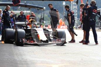 World © Octane Photographic Ltd. Formula 1 – Belgian GP - Practice 3. Aston Martin Red Bull Racing TAG Heuer RB14 – Daniel Ricciardo. Spa-Francorchamps, Belgium. Saturday 25th August 2018.