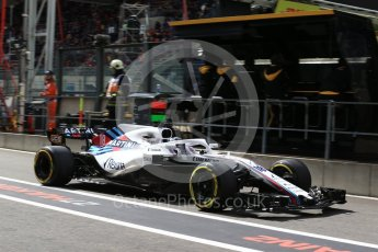 World © Octane Photographic Ltd. Formula 1 – Belgian GP - Practice 3. Williams Martini Racing FW41 – Lance Stroll. Spa-Francorchamps, Belgium. Saturday 25th August 2018.
