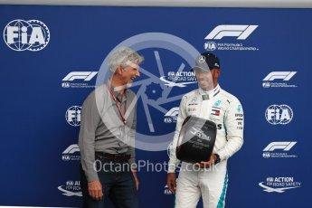 World © Octane Photographic Ltd. Formula 1 – Belgian GP - Qualifying. Mercedes AMG Petronas Motorsport AMG F1 W09 EQ Power+ - Lewis Hamilton and Damon Hill. Spa-Francorchamps, Belgium. Saturday 25th August 2018.