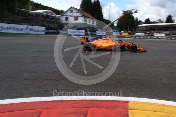 World © Octane Photographic Ltd. Formula 1 – Belgian GP - Qualifying. McLaren MCL33 – Fernando Alonso. Spa-Francorchamps, Belgium. Saturday 25th August 2018.
