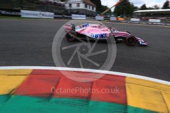 World © Octane Photographic Ltd. Formula 1 – Belgian GP - Qualifying. Racing Point Force India VJM11 - Esteban Ocon. Spa-Francorchamps, Belgium. Saturday 25th August 2018.