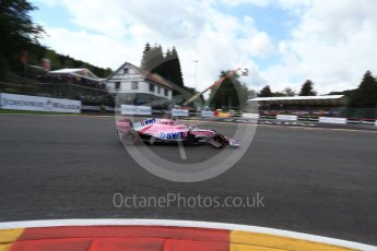 World © Octane Photographic Ltd. Formula 1 – Belgian GP - Qualifying. Racing Point Force India VJM11 - Sergio Perez. Spa-Francorchamps, Belgium. Saturday 25th August 2018.