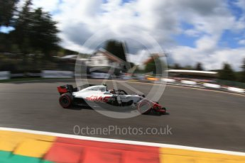 World © Octane Photographic Ltd. Formula 1 – Belgian GP - Qualifying. Haas F1 Team VF-18 – Kevin Magnussen. Spa-Francorchamps, Belgium. Saturday 25th August 2018.