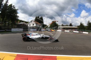World © Octane Photographic Ltd. Formula 1 – Belgian GP - Qualifying. Williams Martini Racing FW41 – Sergey Sirotkin. Spa-Francorchamps, Belgium. Saturday 25th August 2018.