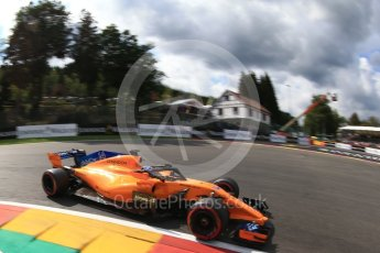 World © Octane Photographic Ltd. Formula 1 – Belgian GP - Qualifying. McLaren MCL33 – Fernando Alonso. Spa-Francorchamps, Belgium. Saturday 25th August 2018.