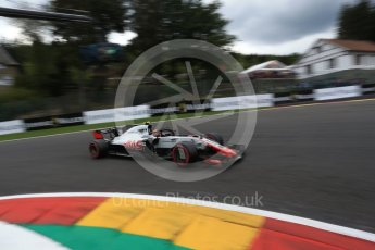 World © Octane Photographic Ltd. Formula 1 – Belgian GP - Qualifying. Haas F1 Team VF-18 – Romain Grosjean. Spa-Francorchamps, Belgium. Saturday 25th August 2018.