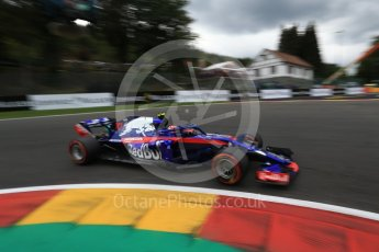 World © Octane Photographic Ltd. Formula 1 – Belgian GP - Qualifying. Scuderia Toro Rosso STR13 – Pierre Gasly. Spa-Francorchamps, Belgium. Saturday 25th August 2018.