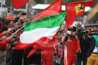 World © Octane Photographic Ltd. Formula 1 – Belgian GP - Race Podium. Scuderia Ferrari SF71-H – Sebastian Vettel. Spa-Francorchamps, Belgium. Sunday 26th August 2018.