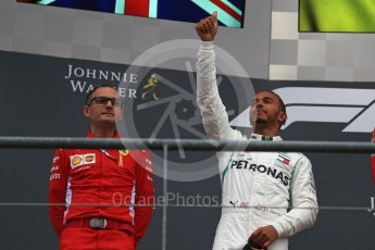 World © Octane Photographic Ltd. Formula 1 – Belgian GP - Race Podium. Mercedes AMG Petronas Motorsport AMG F1 W09 EQ Power+ - Lewis Hamilton. Spa-Francorchamps, Belgium. Sunday 26th August 2018.