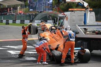 World © Octane Photographic Ltd. Formula 1 – Belgian GP - Race. McLaren MCL33 – Fernando Alonso. Spa-Francorchamps, Belgium. Sunday 26th August 2018.