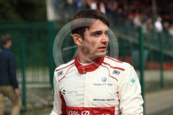 World © Octane Photographic Ltd. Formula 1 – Belgian GP - Race. Alfa Romeo Sauber F1 Team C37 – Charles Leclerc. Spa-Francorchamps, Belgium. Sunday 26th August 2018.